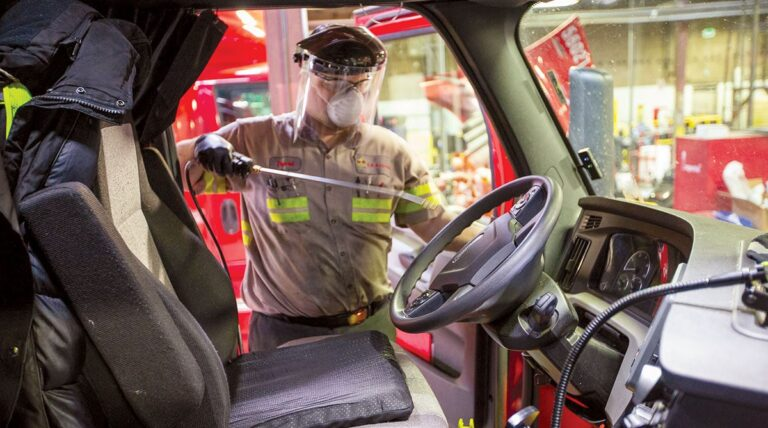 Sanitation, Social Distancing Become New Normal in Trucking